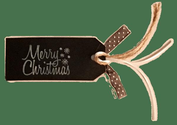 Merry Christmas Gift Tag Back